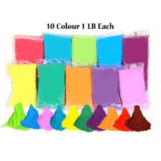 10 Colors x 1 LB Each Holi Color Powder premium high Quality Vibrant Colors